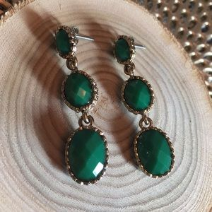 J Crew Green Tier Earrings
